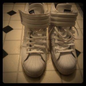 White wedge Adidas